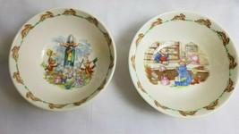 2 Royal Doulton England Bunnykins Bunny Rabbits Bowl Child Dish Bone China  - $29.50