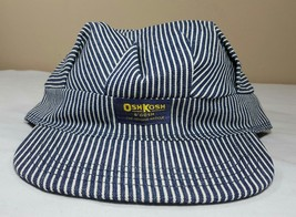Vtg OshKosh B'Gosh Train Engineer Railroad Cap Hat USA Striped Osh Josh - $35.59