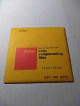 Kodak CC30Y Color Compensating Filter, 75mm x 75mm, 1496793, NOS - $19.17