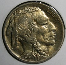 1915 Buffalo Nickel 5¢ Coin Lot # EA 300