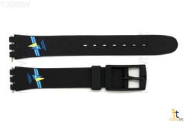 12mm Donna Blu / Giallo a Vela Design Nero Cinturino Orologio per Swatch - $8.91