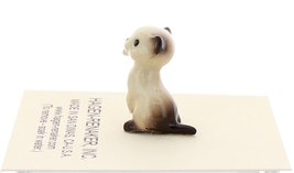 Hagen-Renaker Miniature Cat Figurine Tiny Siamese Kitten Boxing Seal Point image 2