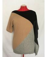 Lauren Hansen Colorblock Asymmetrical Cashmere Sweater Pullover Women Sz M - $45.00