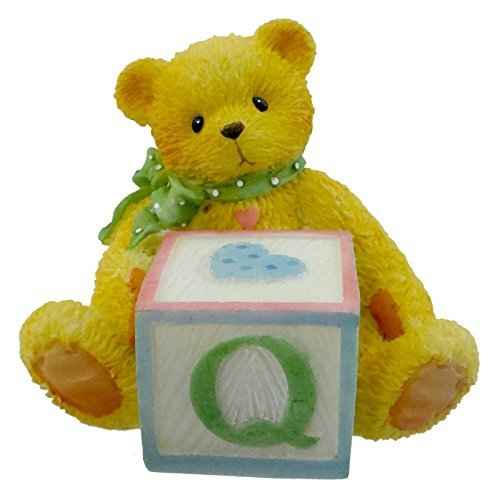 Primary image for Cherished Teddies BEAR WITH ABC BLOCK 158488 Q Teddy Bear Miniature Block New