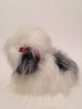 Old English Sheepdog Plush 12 IN Standing America Wego Christmas Sheep Dog - $1.93