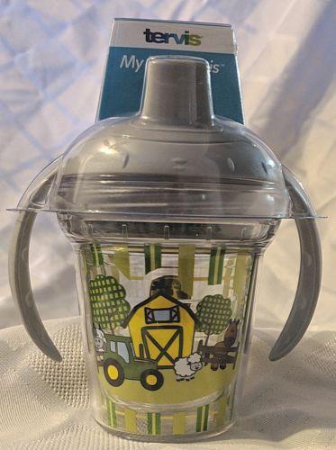 John Deere LP67611 Grey  My First Tervis 60z Farm Scene Sippy Cup