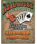 New Roadhouse Bar & Casino Decorative Metal Tin Sign - $9.41