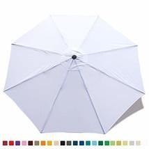 ABCCANOPY 9ft Market Umbrella Patio Umbrella Replacement Canopy 8 Ribs, ... - £13.80 GBP