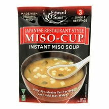 Edward And Sons Miso Cup Soup - Japanese Restaurant Style - Case Of 6 - ... - $33.96