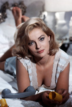 Virna Lisi Stunning Busty Pose Lying on Bed 18x24 Poster - $23.99