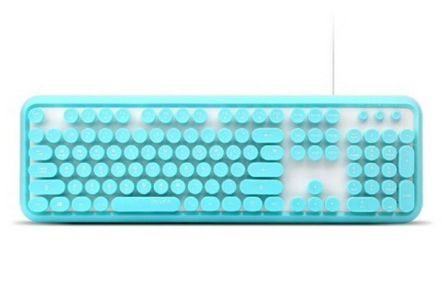 iRiver Korean English Keyboard USB Wired Membrane Bubble Keyboard for PC (Blue)