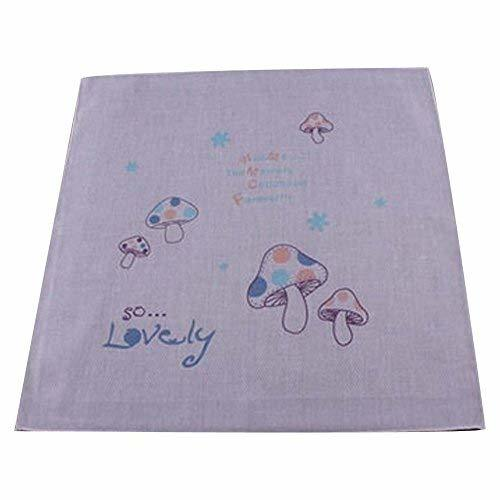 5 Pcs Mushroom Pattern Children's Cotton Sweat Wash Towel Bibs Baby Handkerchief