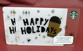 Lot Of 2 Starbucks 2015 Happy Holidays Gift Cards New With Tags - $10.80