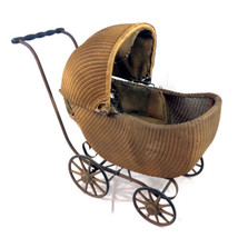Antique Gendron Stroller Baby Carriage Early 20th Century 1900-1910 Wick... - $249.97