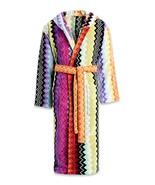 Missoni Robe Giacomo 59 Zig Zag Striped Cotton Bath Robe, Small or Medium - $409.00