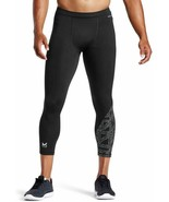 Mission Wade X Mens Compression 3/4 Tights Vaporactive Odor Control Blac... - $24.69