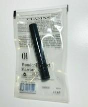 Clarins Paris 01 Wonder Perfect Mascara 4d Black 3 ML/0.1 OZ Sample/Trav... - $9.20