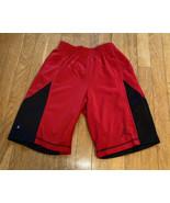Boys Jordan Basketball Shorts Red Black Medium - $8.33