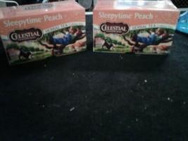 Celestial Seasonings Sleepytime Peach Herbal Tea, 20 Count Box 2 Pck - £6.18 GBP