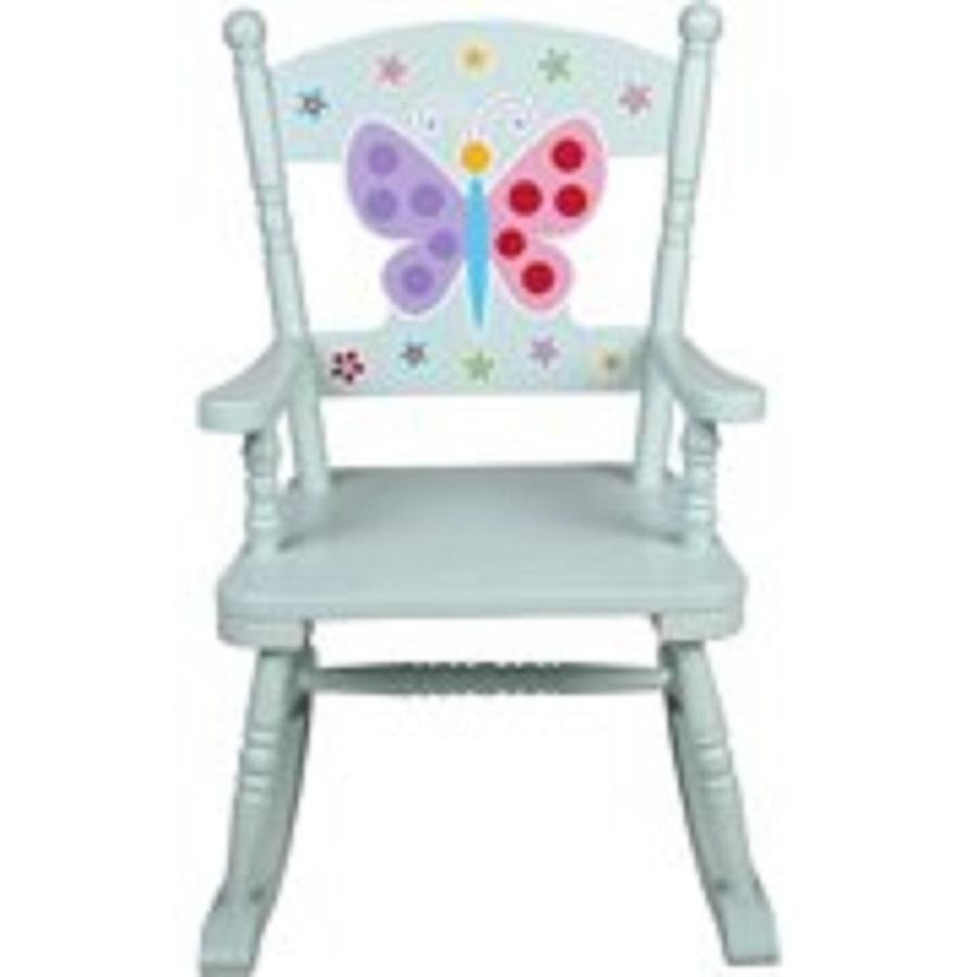 Outdoor Rocking Chair Kids Children Baby Seat for Patio Backyard Garden in Blue