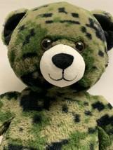 "Build A Bear Plush Camouflage Teddy Bear Green Camo 17"" Stuffed Animal M... - $19.98"