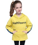 Girl's Hoodie Patchwork Design Letters Embroidery Casual Faddish Top - $32.99