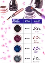 KISS NEW YORK LONG LASTING GEL EYELINER WITH BUILT IN BRUSH/AVAILABLE IN... - $4.59