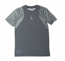 276f19e586ed Nike Boys Jordan Dri-Fit Training Shirt Workout Practice Cool Grey Youth  Large -  28.49