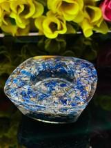 Blue Lapis Lazuli Orgonite Energy Candles Holder   Orgone Reiki Aura Crystal   - $45.00