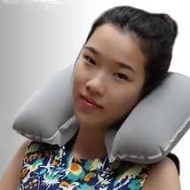 Neck Pillow Inflatable U Shaped Travel Air Cushion Headrest Car Office N... - $4.97