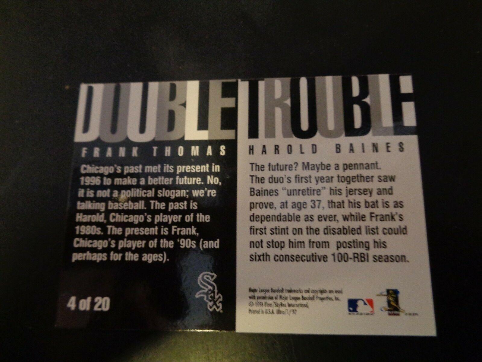 Frank Thomas 1997 Fleer Ultra Baseball Card Insert #4 NM/M Condition White Sox