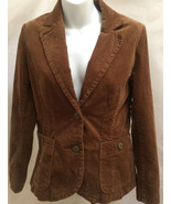 H&M 10 Jacket Brown Corduroy Blazer New - $21.55