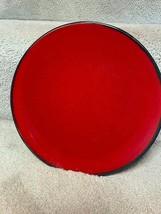 """Target Home Red Solstice Salad Plates Black Dessert 9"""" Dia - $4.95"""