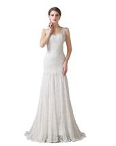 Ivory Lace Mermaid Wedding Dresses,Wedding Gown,Bridal Dress Cheap 2017 - $189.00
