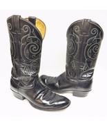 Justin Men's Boots Western Cowboy Leather Composite Distressed Black 9 D... - $44.95