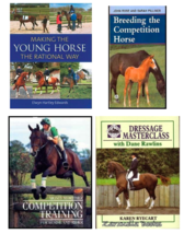 Lot  of 4 Horse / Horsemanship Books  -   Four New Hardcovers    @ZB - $22.95