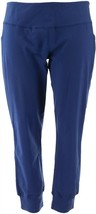 Denim Co Active Pull-On Knit Jogger Leggings Navy L NEW A299388 - $26.71