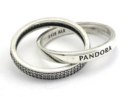 Authentic Pandora Promise Ring, Clear CZ, 196547CZ Sz 6 New - $76.94