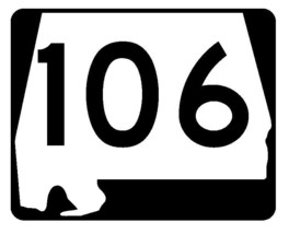 Alabama State Route 106 Sticker R4503 Highway Sign Road Sign Decal - $1.45+