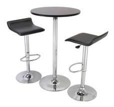 Adjustable Bar Stools Home Kitchen Modern Swivel Chairs 2 Set Leather Fu... - $89.01