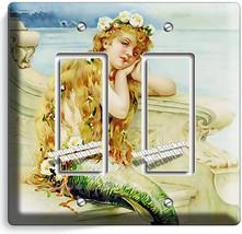 CUTE MERMAID TAKING SEA SALT BATH PHONE TELEPHONE COVER PLATE BATHROOM A... - $11.99