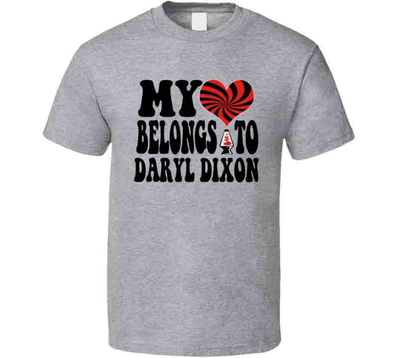 My Heart Belongs To (customizable) Daryl Dixon T-Shirt Novelty Walking Dead Tee