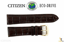 Citizen Eco-Drive CB0013-04A 23mm Brown Leather Watch Band S068371 S073308 - $79.95