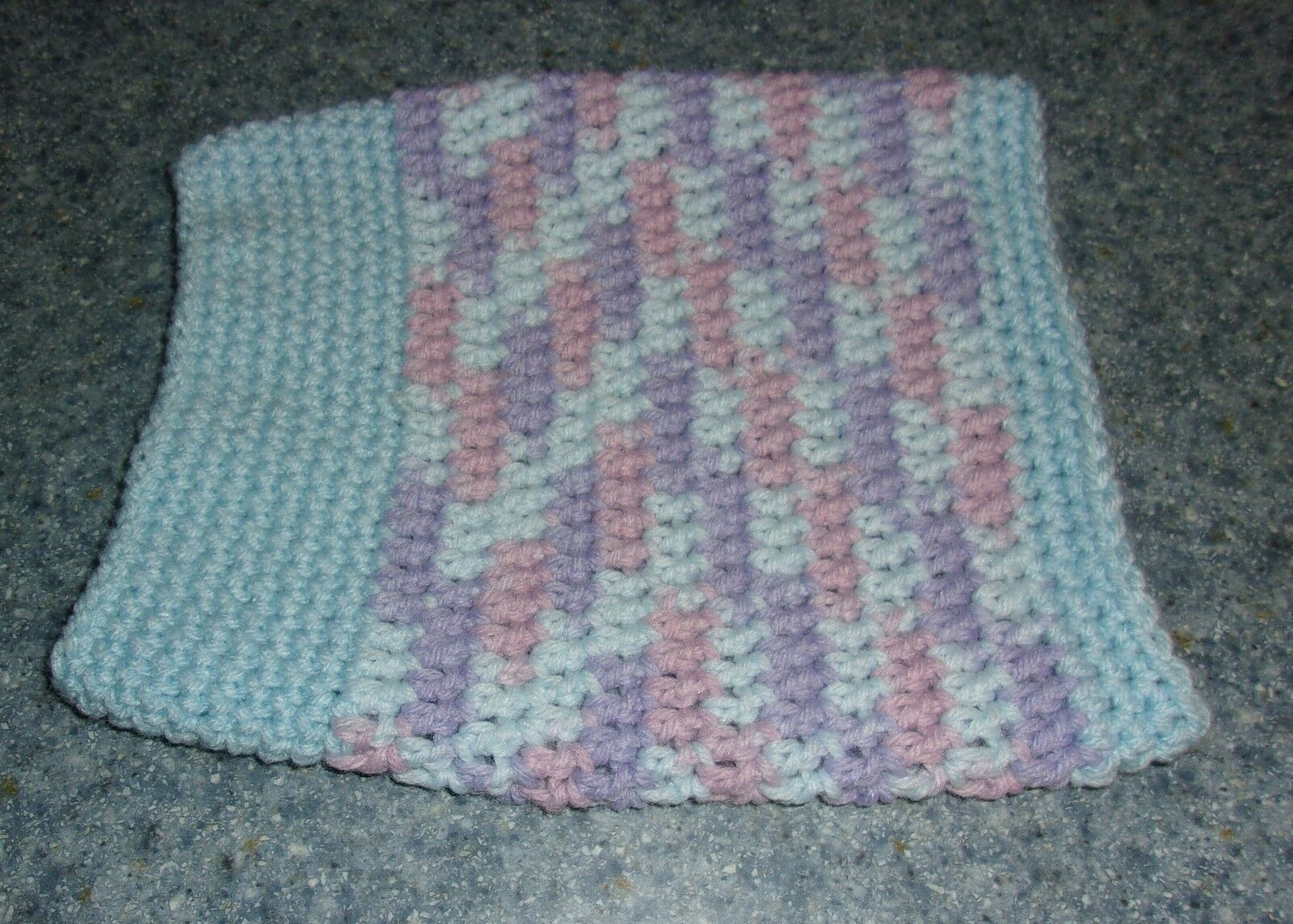 Brand New Hand Crocheted Pastel Blue Dog Snood Neck Warmer Dog Rescue Charity