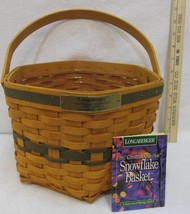Longaberger Snowflake Basket Christmas Collection Hexagon #12637 w/ Line... - $28.21