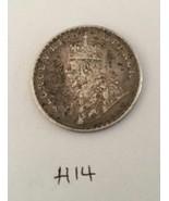 Antique Fine Silver One Rupee British India 1918 King George Coin H14 Un... - $188.16