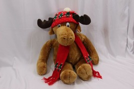 "Commonwealth Moostletoe Plush Moose 1986 24"" - $43.61"