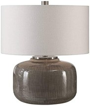 Uttermost Dhara Warm Gray Glaze Ceramic Accent Table Lamp - $272.80