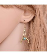 BAHYHAQ - Bohemia Ethnic Earring Vintage Jewelry Pending Moon Drop Earrings - $1.45