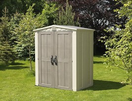 Outdoor Plastic Shed Resin Garden Storage Shed Patio Small Stockhouse Be... - $577.09